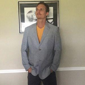 Perry Ellis Linen Blazer sz 42 Men's